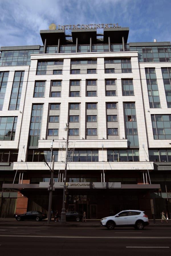 洲际的旅馆在莫斯科 免版税库存照片