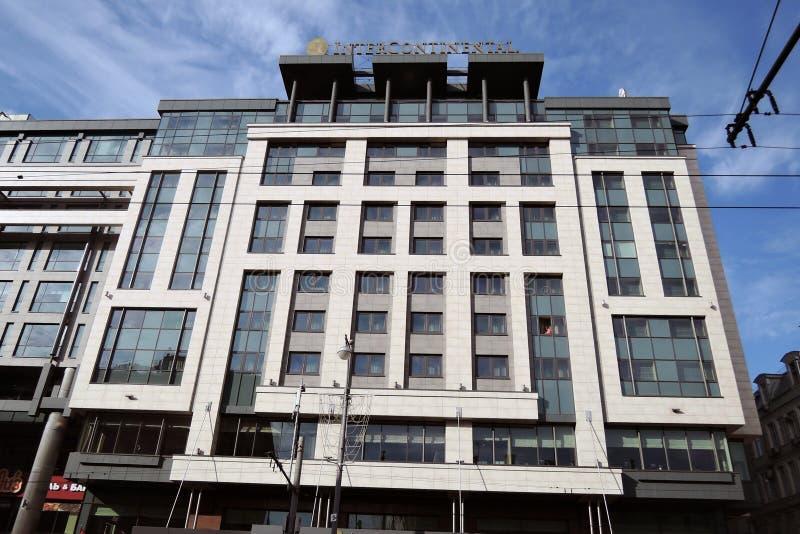 洲际的旅馆在莫斯科 图库摄影