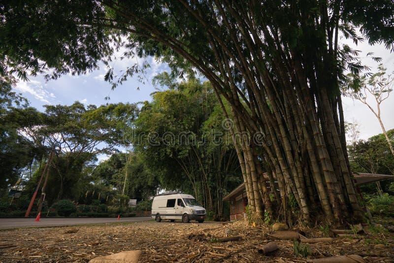 陆上旅游车在厄瓜多尔 库存图片