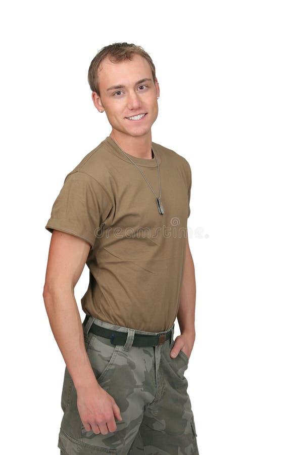 陆军人战士 免版税库存照片