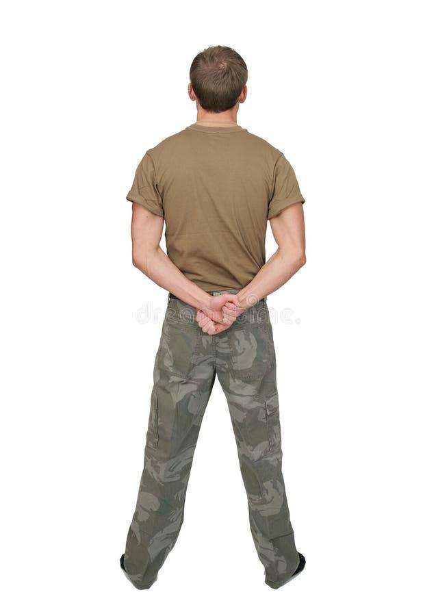 陆军人战士 库存图片