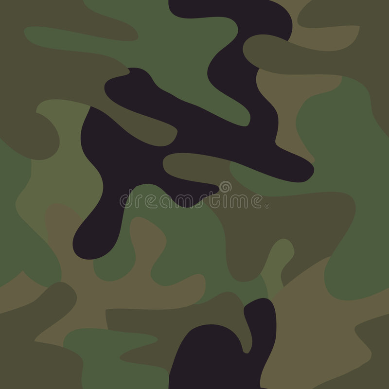 陆军伪装无缝特攻队的模式 库存例证