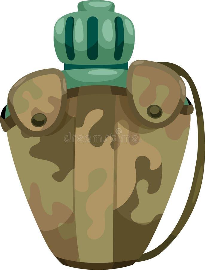 陆军军用餐具水 向量例证