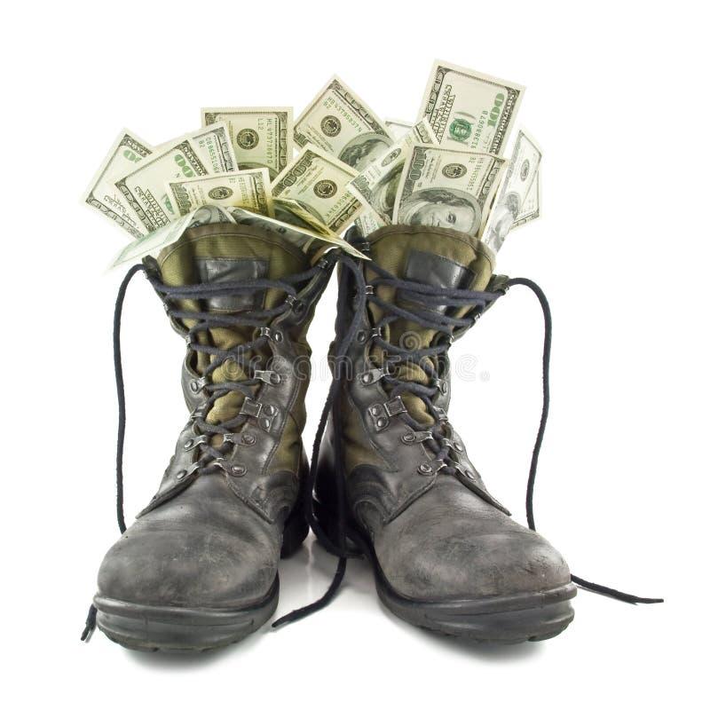 陆军启动老 免版税库存照片