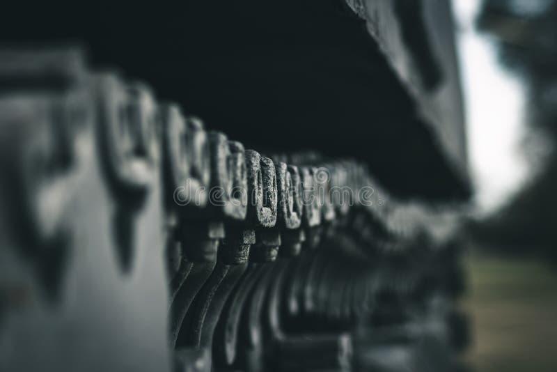 陆军坦克轨道特写镜头 库存图片