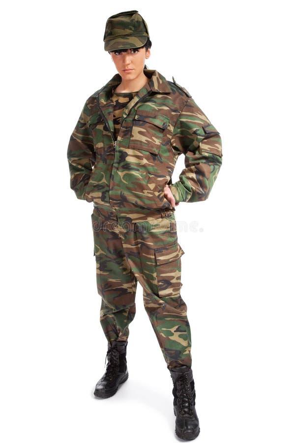 陆军女孩 免版税库存照片