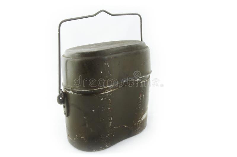 陆军容器食物 库存图片