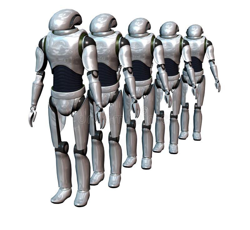 陆军机器人 皇族释放例证