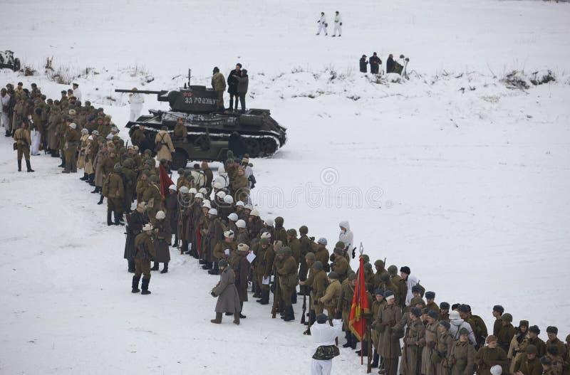 陆军极大ii爱国红色时间战争ww 库存图片