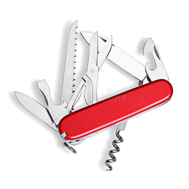 陆军查出的刀子瑞士 免版税库存图片