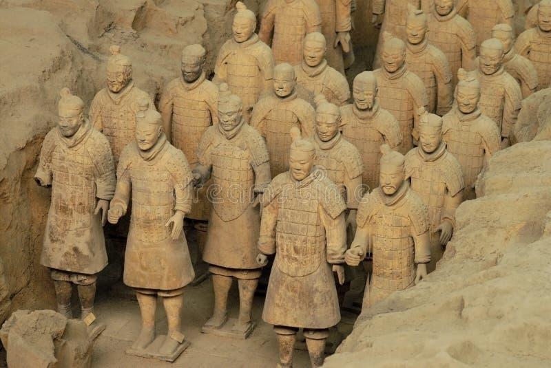 陆军瓷赤土陶器 库存照片