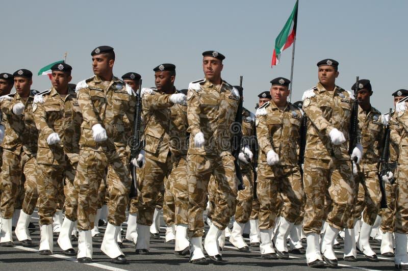 陆军科威特显示 免版税库存照片