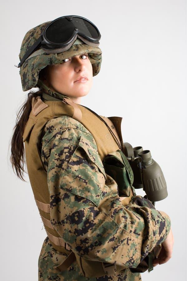 陆军美丽的女孩 免版税库存照片