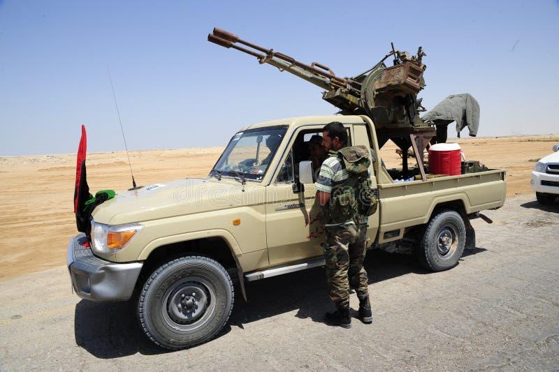 陆军解救利比亚 免版税库存照片