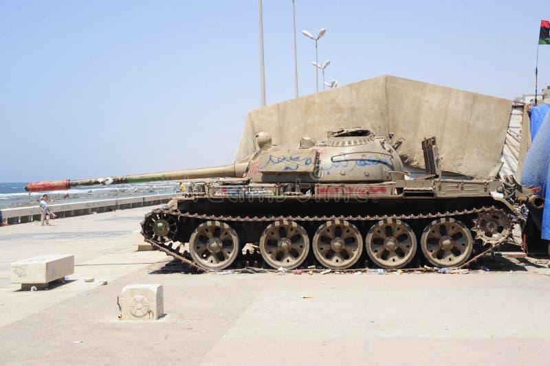 陆军解救利比亚 库存照片