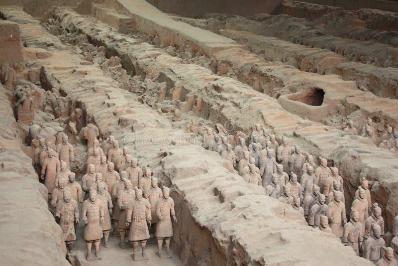 陆军赤土陶器 库存图片