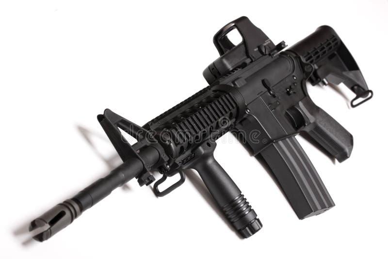 陆军马枪m4现代ris武器 库存照片