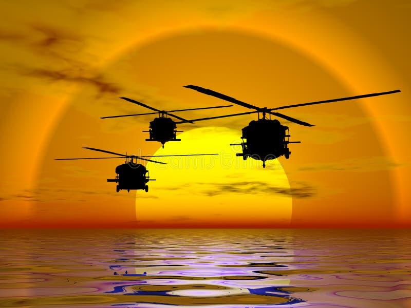 陆军blackhawk直升机 库存例证