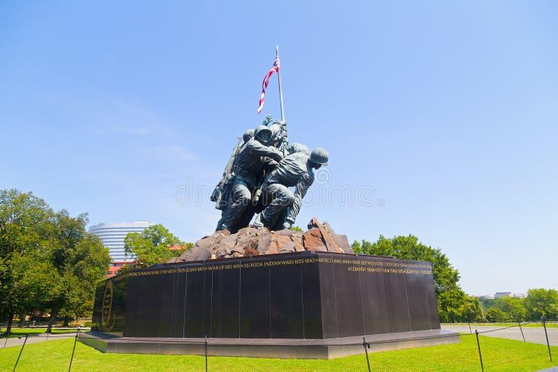 陆战队战争纪念建筑在阿灵顿, VA,美国 库存照片
