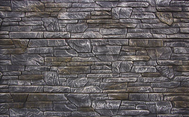 陈列从装饰具体块的篱芭样品 免版税库存照片