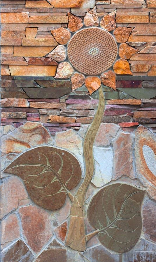 陈列从装饰具体块的篱芭样品 免版税库存图片