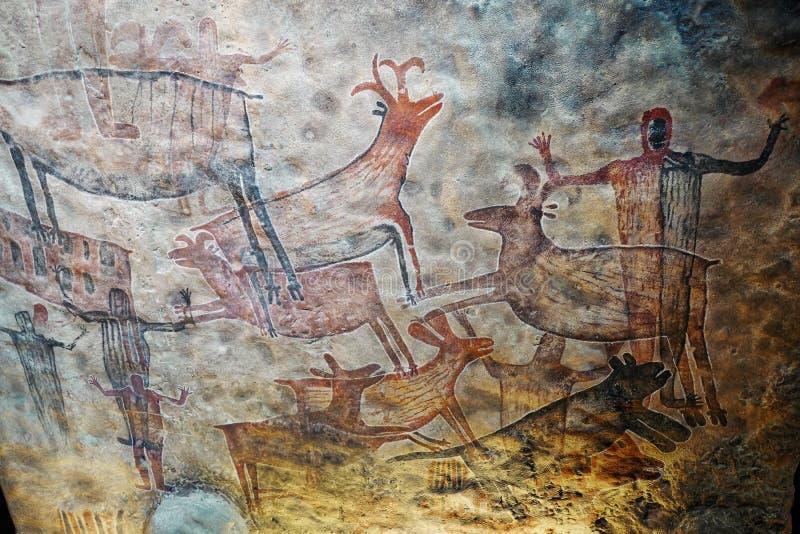 陈列在人类学,墨西哥城国家博物馆  免版税库存照片