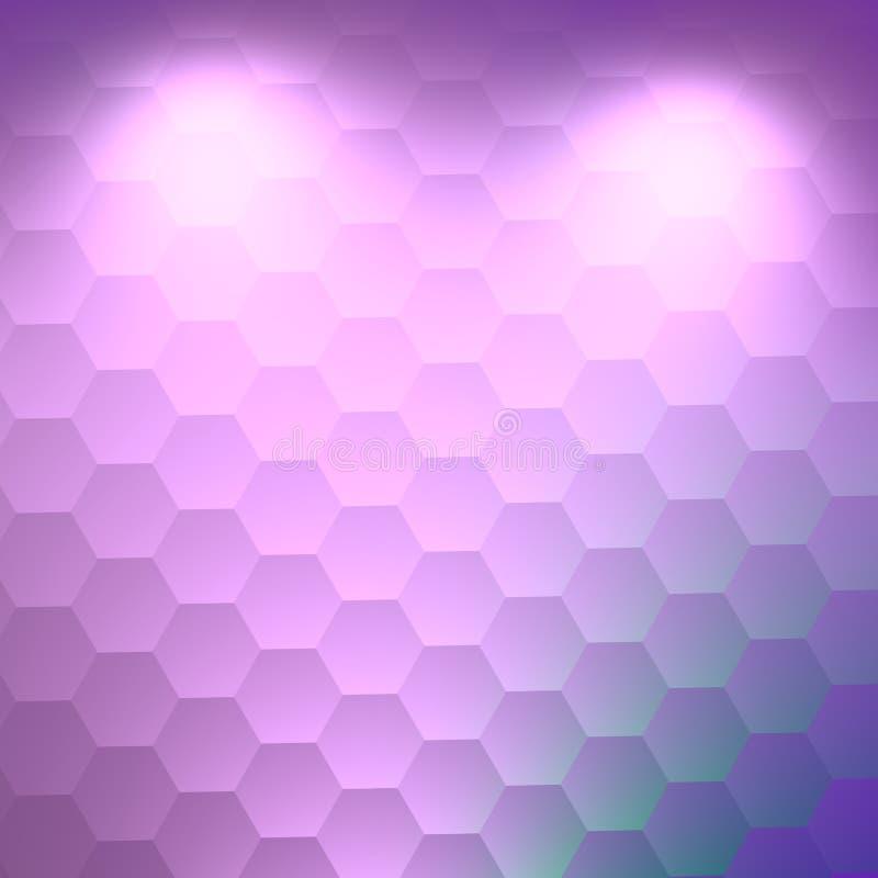 陈列概念 典雅的白色被阐明的背景 抽象空白的设计 创造性的六角形图象 软的3d纹理 艺术 库存例证