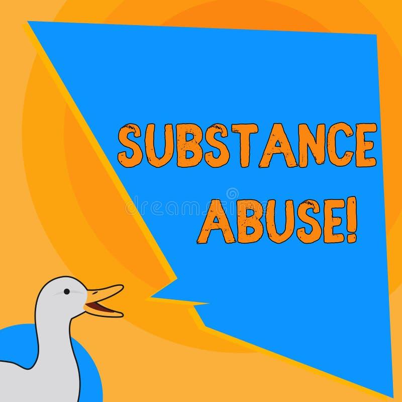 写笔记陈列滥用毒品 陈列用户在数额消耗对药物的被仿造的用途的企业照片 库存例证