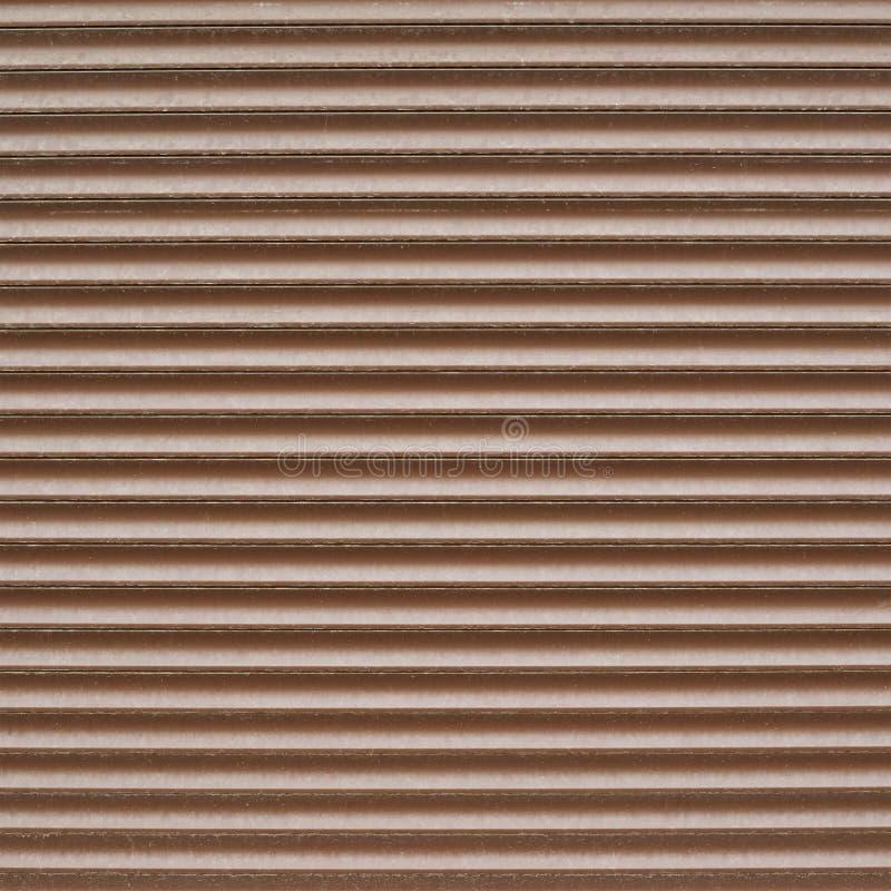 陈列窗威尼斯式棕色塑料窗帘 库存图片