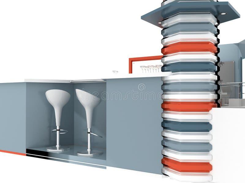 陈列立场内部或外部样品 向量例证