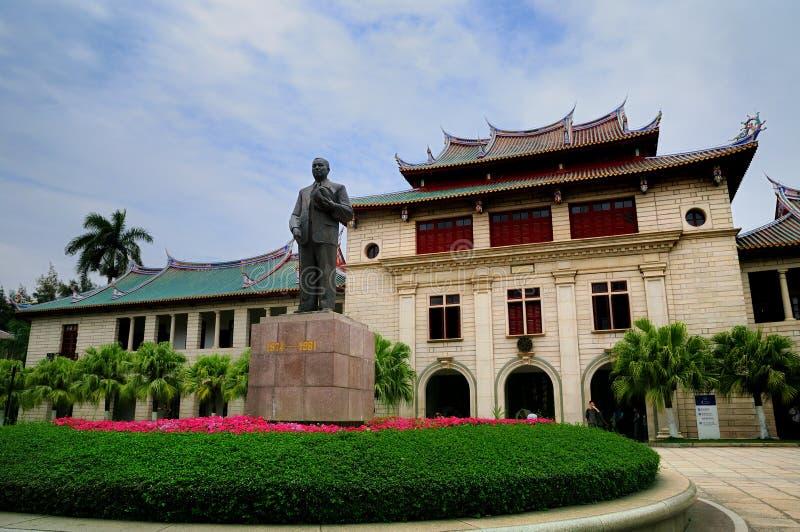 陈嘉庚雕象在厦门大学 库存照片
