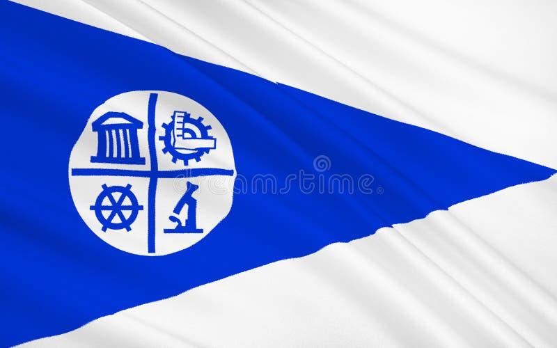 陈述米尼亚波尼斯旗子-团结的St的北部的一个城市 皇族释放例证
