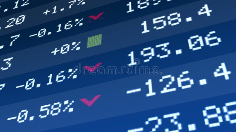 陈述经济复兴,公司资产在股市显示的价格成长 免版税库存图片