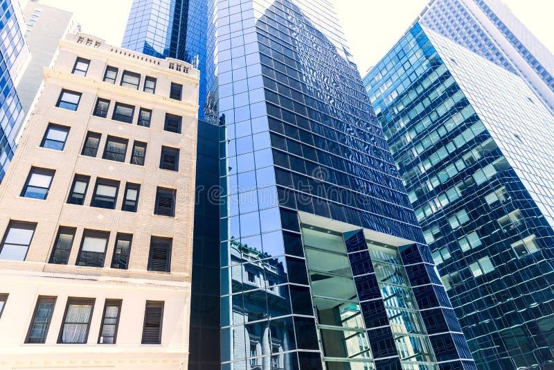 降低曼哈顿大厦纽约美国 库存图片