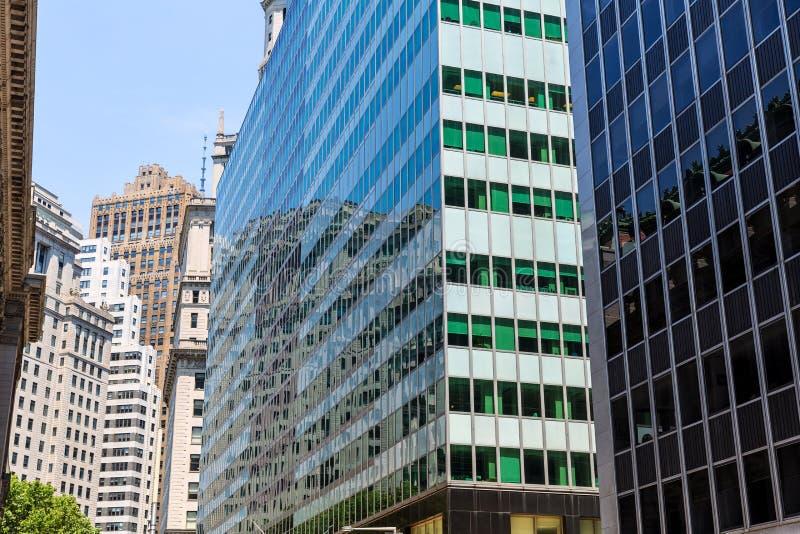 降低曼哈顿大厦纽约美国 库存照片