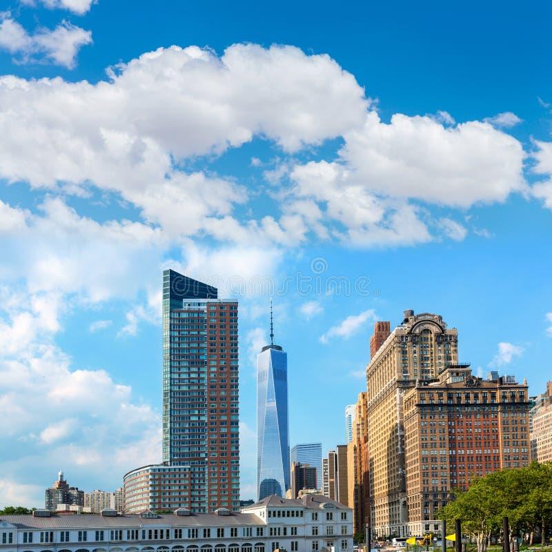 降低曼哈顿新的地平线自由塔美国 库存图片