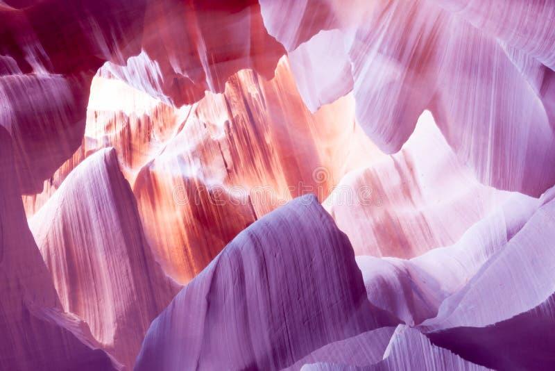 降低羚羊峡谷页亚利桑那美国 图库摄影