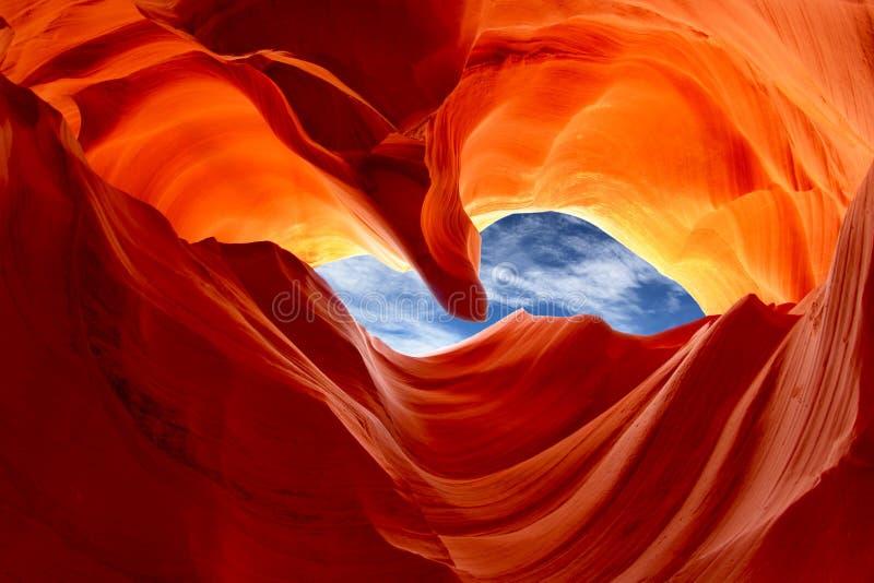 降低羚羊峡谷,亚利桑那,美国 库存照片