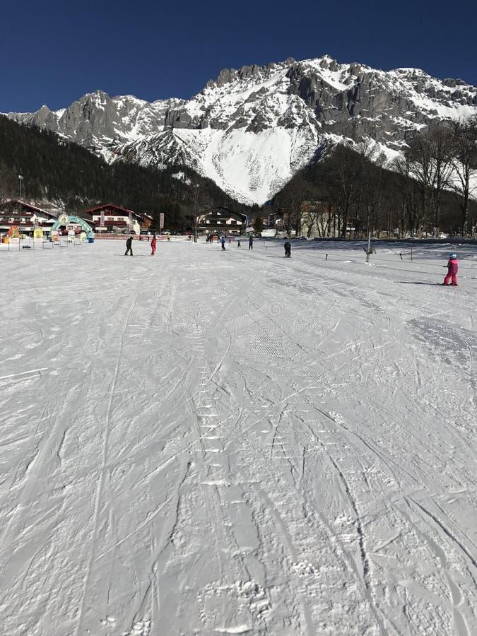 降雪, Dachstein冰川奥地利, Ramsau 库存图片