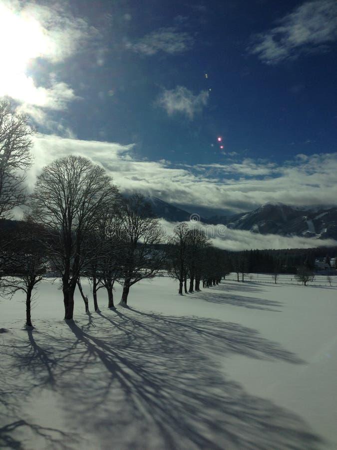 降雪, Dachstein地区ustria, Ramsau 图库摄影