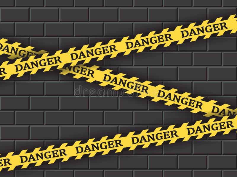 限制性黄色磁带危险 皇族释放例证