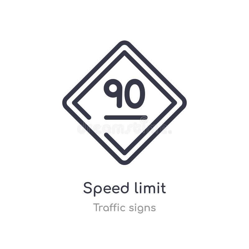 限速概述象 r 编辑可能的稀薄的冲程限速象 库存例证