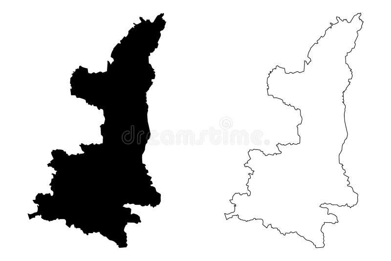 陕西地图传染媒介 皇族释放例证