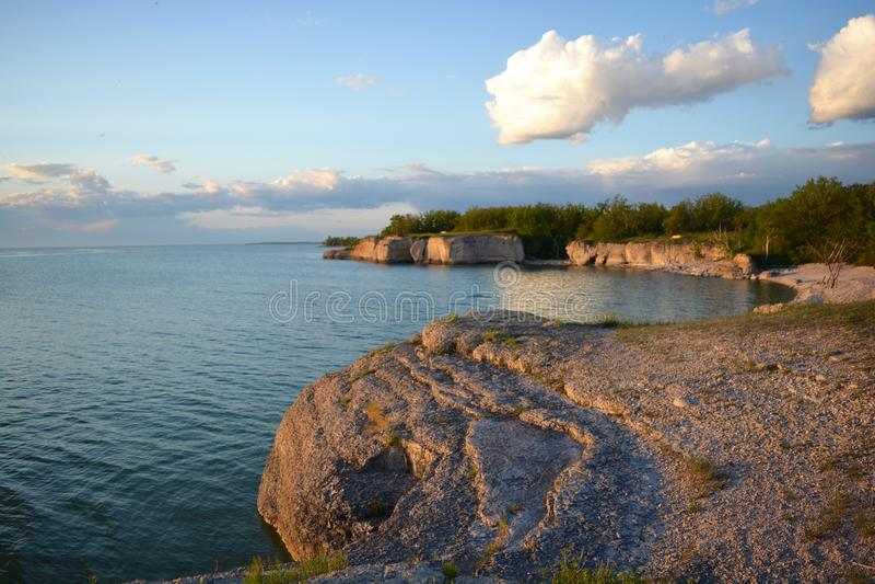 陡峭的岩石加拿大MB 库存图片