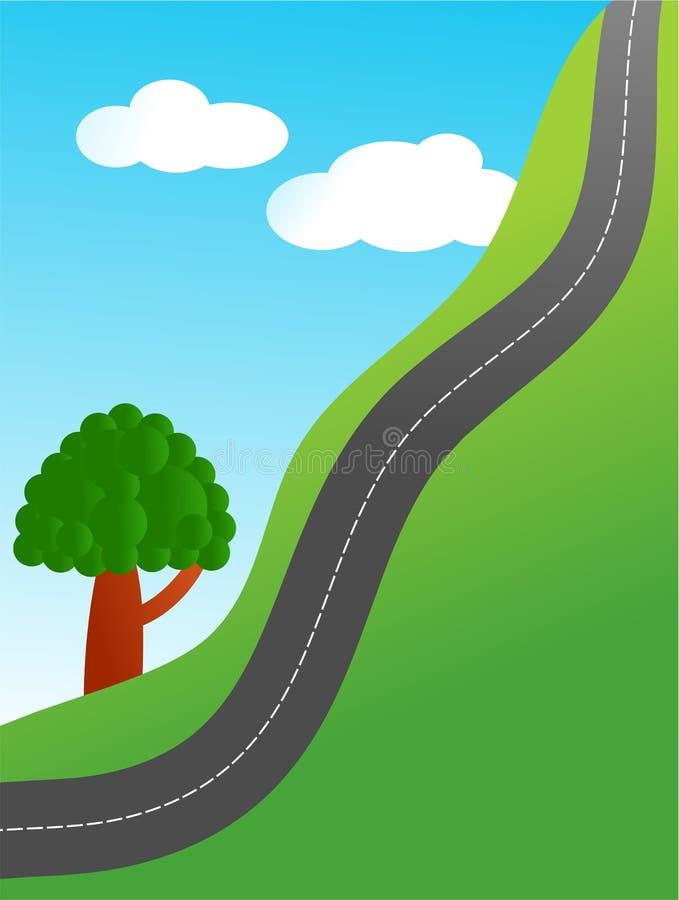 陡峭的路 向量例证