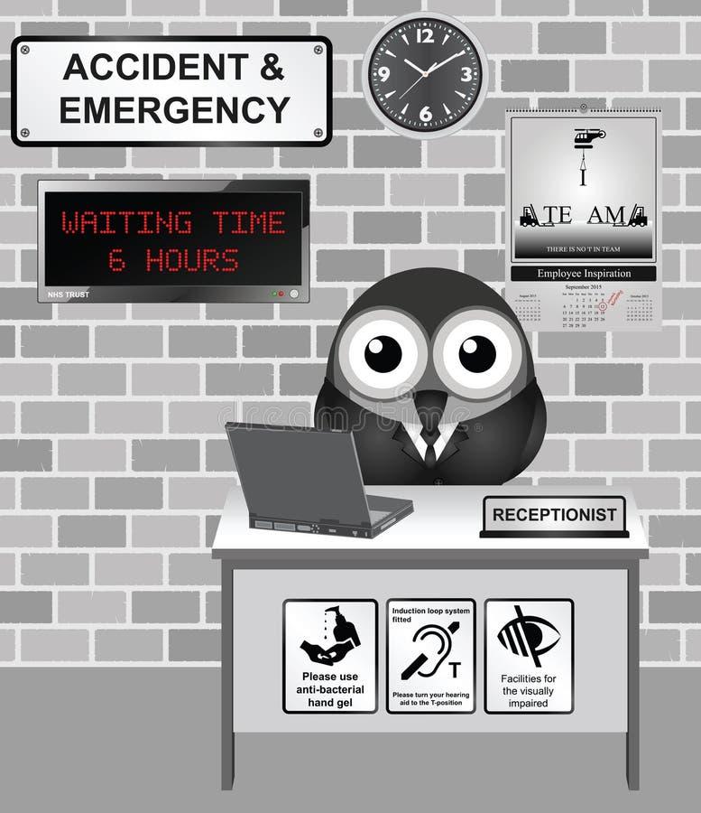 医院事故和紧急状态 向量例证