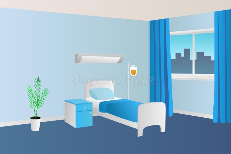 医院病房诊所室内部例证 向量例证