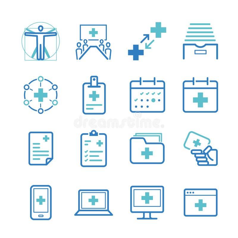 医院被设置的管理象 库存例证