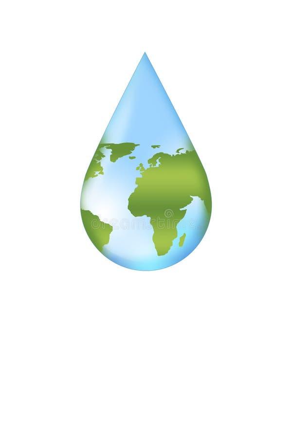 除地球水概念之外 向量例证