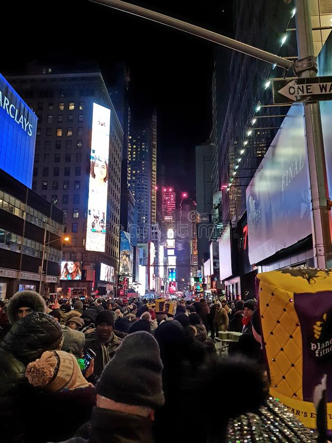 除夕纽约时间广场纽约 库存图片